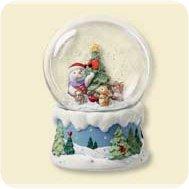 2007 Snow Buddies - Snow Globe Hallmark Ornament