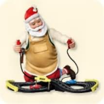 2007 Toymaker Santa #8 - Race Track Hallmark Ornament