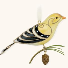 2008 Beauty Of Birds #4 - Goldfinch Hallmark Ornament