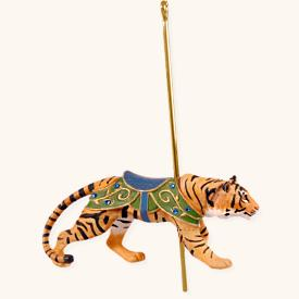 2008 Carousel Ride #5f - Wild Tiger Hallmark Ornament