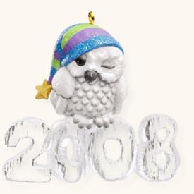 2008 Cool Decade #9 - Owl Hallmark Ornament