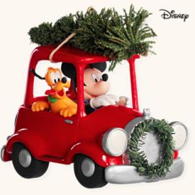 2008 Disney - Bringing Home Tree - Car - SDB Hallmark Ornament