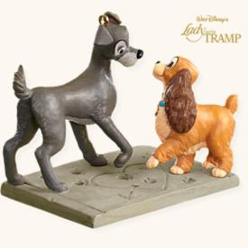 2008 Disney - Signs Of Affection - Lady And The Tramp Hallmark Ornament