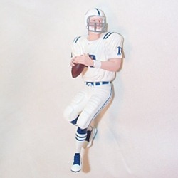 2008 Football - Peyton Manning - White Jersey Hallmark Ornament