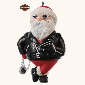 2008 Harley - Jolly Rider - Santa Hallmark Ornament