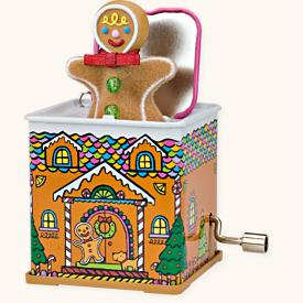 2008 Jack In The Box #6 - Pop Goes Gingerbread Man Hallmark Ornament