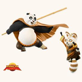 2008 Po And Shifu - Kung Fu Panda Hallmark Ornament