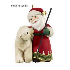 2009 A Visit From Santa #1 - Bear Hallmark Ornament