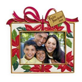 2009 Feliz Navidad - Photo Holder Hallmark Ornament