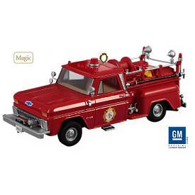 2009 Fire Brigade #7 - 1965 Chevrolet Fire Engine Hallmark Ornament
