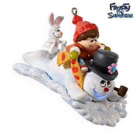 2009 Frosty The Snowman - A Winterfun Ride Hallmark Ornament