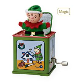 2009 Jack In The Box #7f - Pop! Goes The Elf Hallmark Ornament