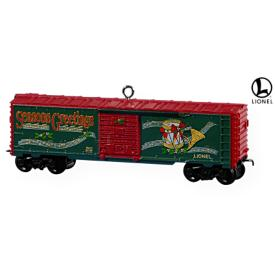2009 Lionel -  Holiday Boxcar Hallmark Ornament