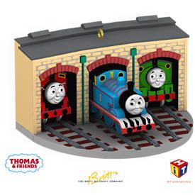 2009 Thomas The Train - Christmastime With Thomas Hallmark Ornament