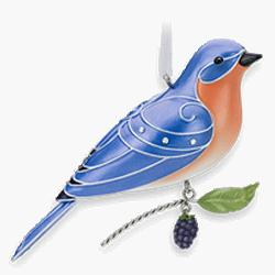 2010 Beauty Of Birds #6 - Eastern Bluebird Hallmark Ornament
