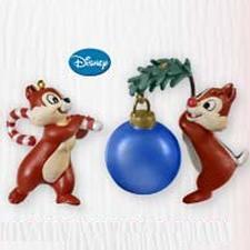 2010 Disney - Chip N Dale - Limited Hallmark Ornament