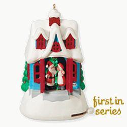 2010 Kringleville #1 - Kissmas Cottage Hallmark Ornament