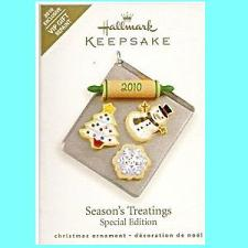 2010 Season's Treatings  - Colorway - MIB Hallmark Ornament