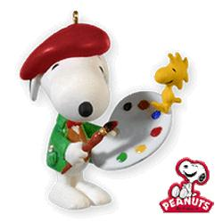 2010 Spotlight On Snoopy #13 - Artist Snoopy Hallmark Ornament