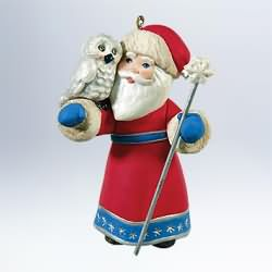 2011 A Visit From Santa #3 - Owl Hallmark Ornament