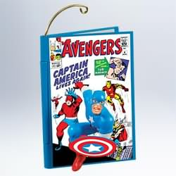 2011 Comic Book Heroes #4f - Captain America And The Avenger Hallmark Ornament