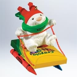 2011 Crayola - One Colorful Sled Hallmark Ornament