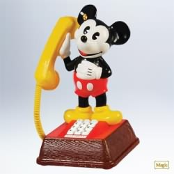 2011 Disney - Mickey's Talking Telephone Hallmark Ornament
