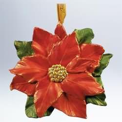 2011 Feliz Navidad - Poinsettia Hallmark Ornament