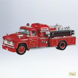 2011 Fire Brigade #9 - 1957 Chevrolet Fire Engine Hallmark Ornament