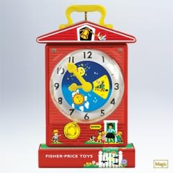 2011 Fisher Price - Music Box Teaching Clock Hallmark Ornament