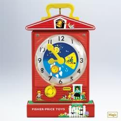 2011 Fisher Price - Music Box Teaching Clock Hallmark Ornament