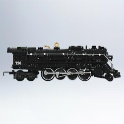 2011 Lionel  #16 - 726 Berkshire Steam Locomotive Hallmark Ornament
