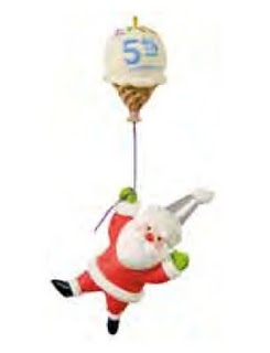 2011 Santa's Sweet Ride - Five Sweet Years Ltd Hallmark Ornament