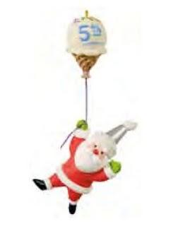 2011 Santa's Sweet Ride - Five Sweet Years Ltd Hallmark Ornament