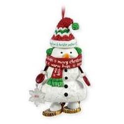 2011 Snowshoe Snowman - Club Hallmark Ornament