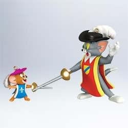 2011 Tom And Jerry - Two Mouseketeers Hallmark Ornament