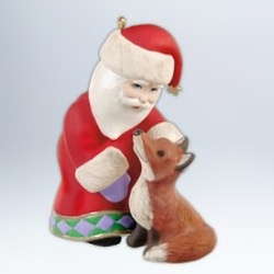 2012 A Visit From Santa #4 - Fox Hallmark Ornament