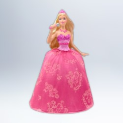 2012 Barbie The Princess And The Pop Star Barbie Ornament Hallmark Ornament