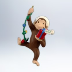2012 Curious George - The Light Of The Party Hallmark Ornament