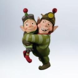 2012 Disney - Prep And Landing - Elf Brothers Hallmark Ornament