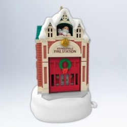 2012 Kringleville #3 - Fire Station Hallmark Ornament