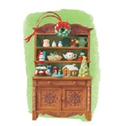 2012 Mrs Claus Cupboard Repaint - Club Hallmark Ornament