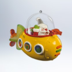 2012 Santa's Sweet Ride #6 - Submarine Hallmark Ornament