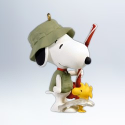 2012 Spotlight On Snoopy #15 - Fisherman Hallmark Ornament