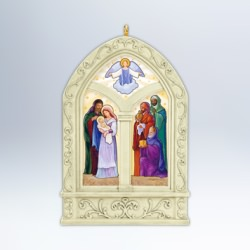 2012 Windows Of Faith #3 - Peace On Earth Hallmark Ornament