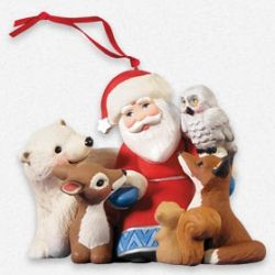 2013 A Visit From Santa - 5th Anniversary Hallmark Ornament