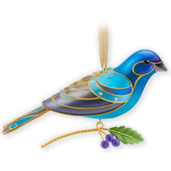 2013 Beauty Of Birds - Indigo Bunting - Koc - MIB Hallmark Ornament