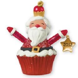 2013 Christmas Cupcakes - Santa Cupcake - MIB Hallmark Ornament