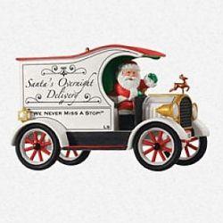 2013 Here Comes Santa - Santas Overnight Delivery - Ltd Hallmark Ornament