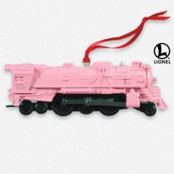 2013 Lionel - 2037 Steam Locomotive - Pink Hallmark Ornament